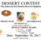 Dessert Contest Bakeoff - 2017