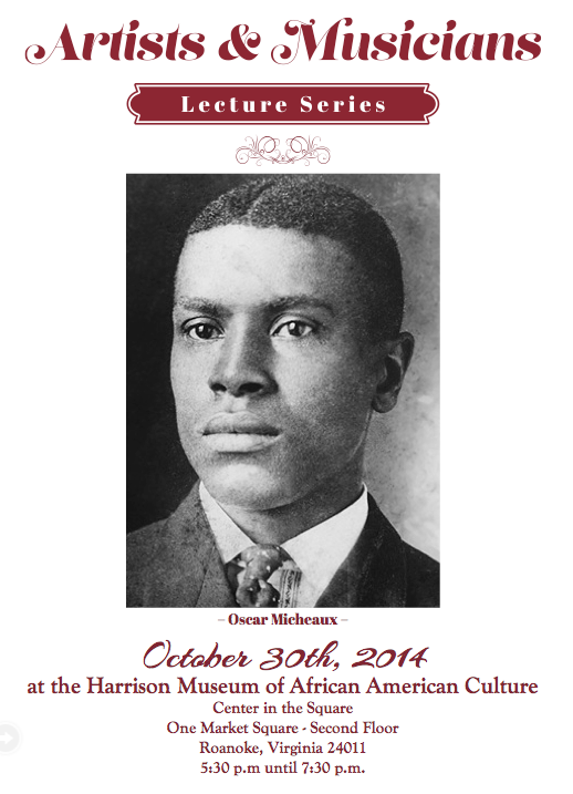 Artists & Musicians Lecture Series-Oscar Micheaux-1